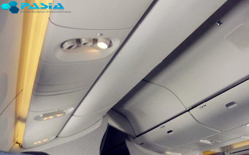 Airplane Indoor Decoration Use Aramid Honeycomb Panels With Polished Treatment