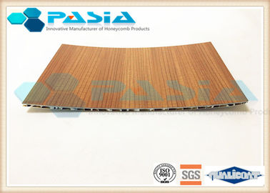 China Commercial Aluminum Honeycomb Panels Bamboo Imitation Surface Corrosion Resistant supplier