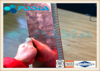 China Copper Veneer Attached Aluminum Honeycomb Panels Moistureproof Energy Saving supplier