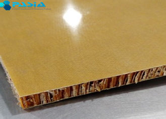 Phenolic Resin Aramid Honeycomb Panels For Yacht Wall / Ceiling 40g/M2 Weight