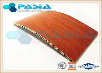 China Wood Veneer Aluminium Honeycomb Ceiling Panels For Clean Room Weather Proof supplier
