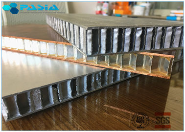 China Fire Proof Honeycomb Wall Panels , Lightweight Honeycomb Panels 1x1 M2 Size supplier