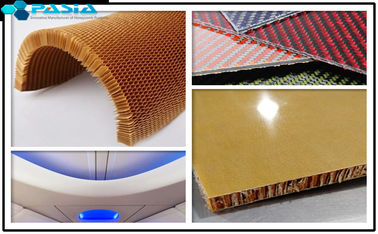 Plain Weave Pattern Kevlar Honeycomb Sheets For Airplane Partition Wall