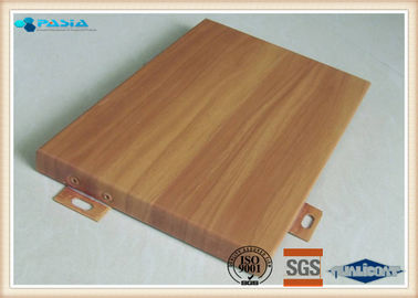 Outdoor Facade Decoration Wood Grain Aluminium Composite Panel 3mm Thickness