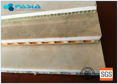 Edge Open Marble Stone Panels Aluminum Honeycomb Panels Customized Specification